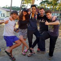 Jugendgruppe im Sommercamp
