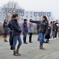 Kennenlernspiel bei der Stadtführerausbildung